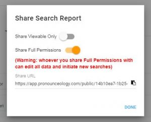 Share your search report!